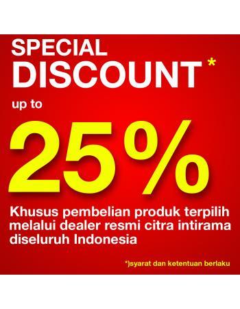 PENAWARAN MENARIK ! SPECIAL DISCOUNT 25% DISELURUH INDONESIA