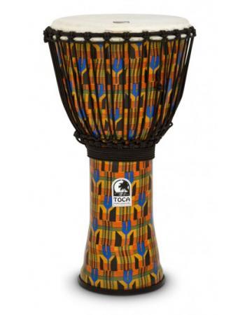 toca-djembe-freestyle-kente-cloth-mechanically-tuned-12-sfdj-12k